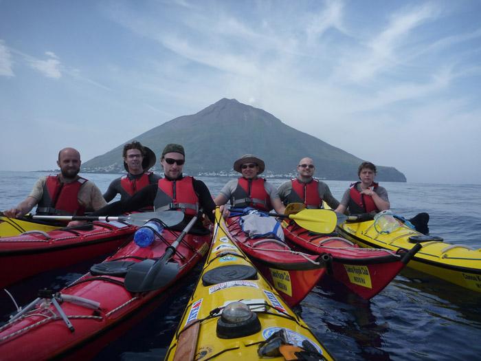 Kayak in the Aeolian Islands